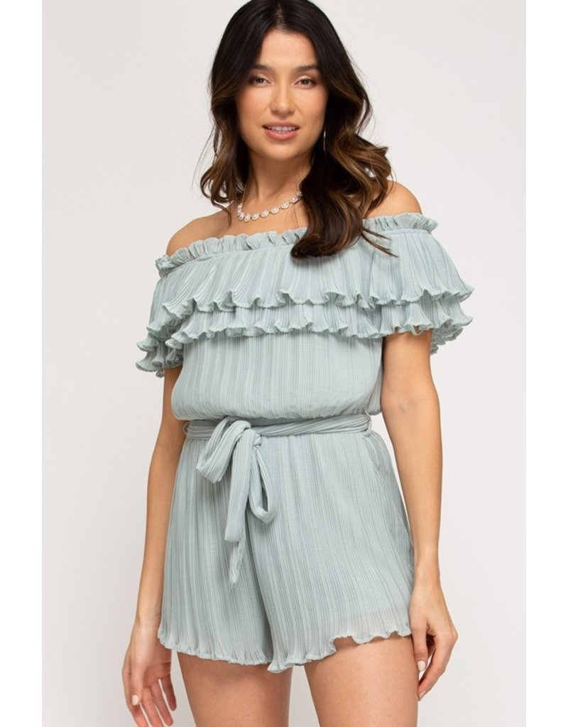 The Gia Off The Shoulder Romper