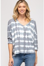 The Audrey Tie Dye Thermal Knit Top