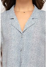 Tied Together Printed Button Down Top