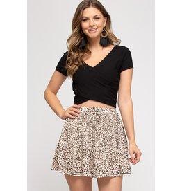 The Jody Pleated Leopard Skirt