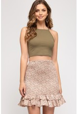 The Perfect Match Floral Smocked Skirt