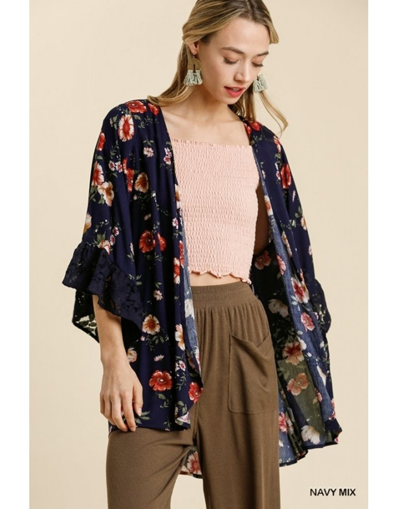 The Cute As Can Be Floral Lace Kimono