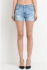 The Stella Distressed Denim Shorts