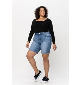 The Crawford Denim Shorts - Curvy Collection