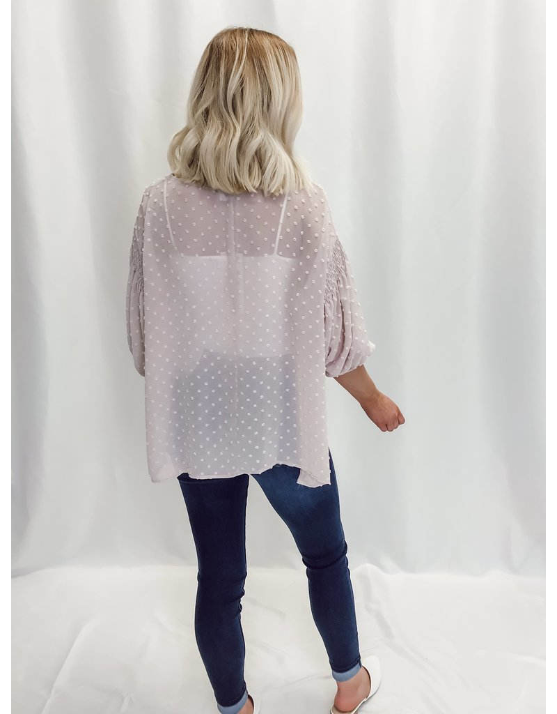 The Spring In My Step Sheer Swiss Dot Top