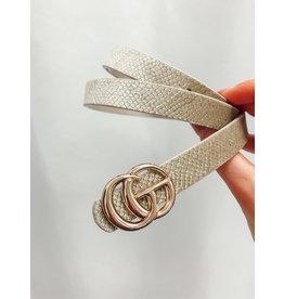 The Snake Print Belt - Thin