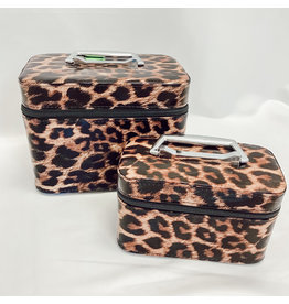 The Leopard Cosmetic Case Set