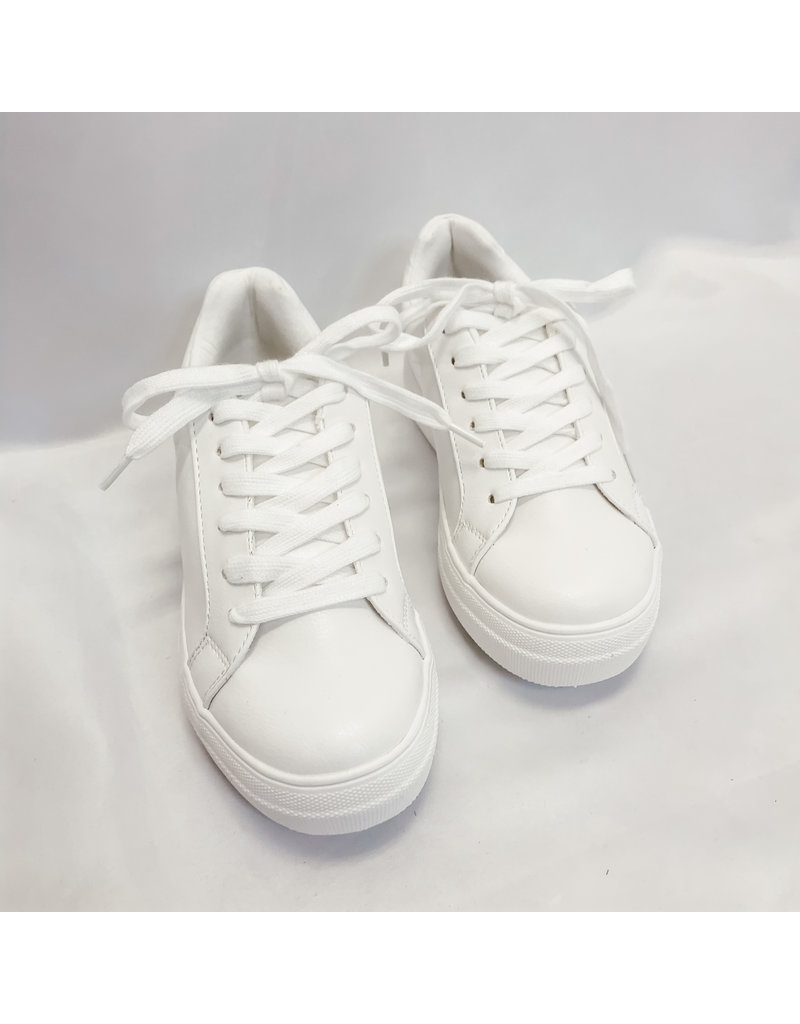 The Pulse Lace Up Sneaker - White