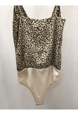 The Hotel California Leopard Cowl Neck Bodysuit