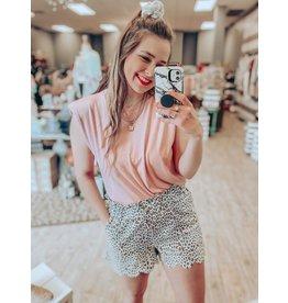 The Josie Leopard Linen Shorts