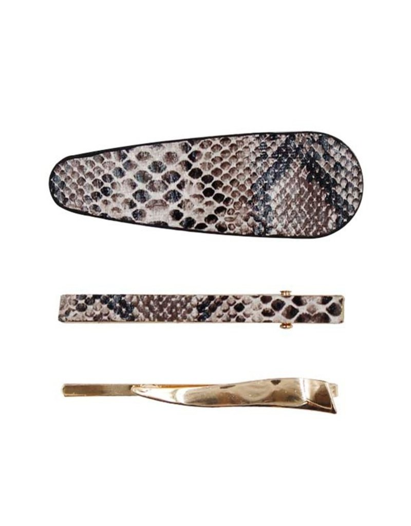 The Snake Print Hair Clip Set