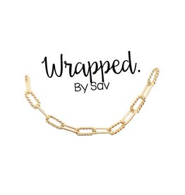 Wrapped. By Sav Gold Filled Braided Link Necklace