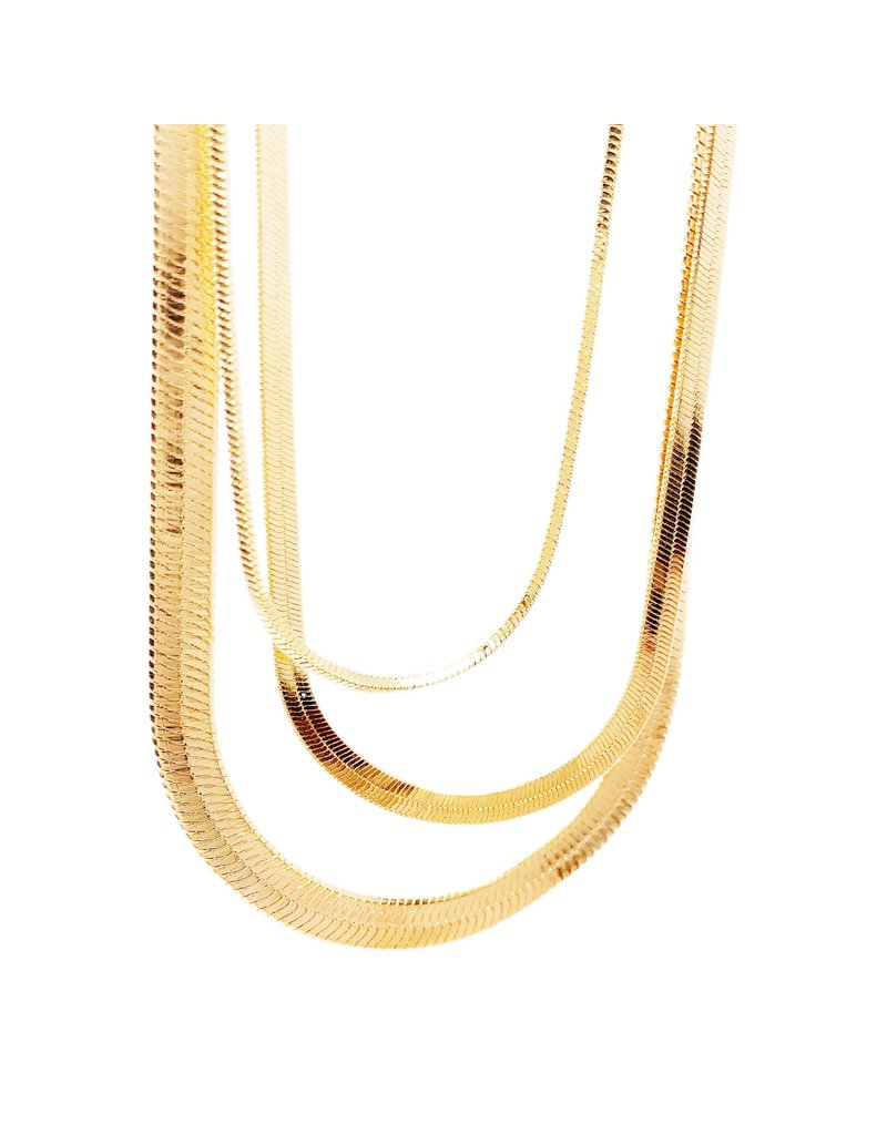 Wrapped. By Sav Snake Chain Necklace - Thick