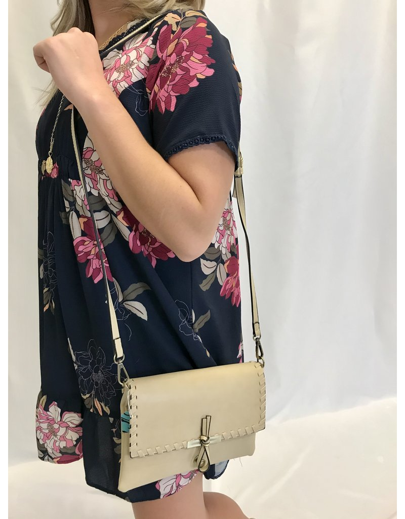 The Life Is Beautiful Crossbody Purse - Taupe