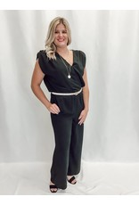 The Boss Lady Shoulder Padded Jumpsuit