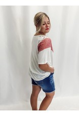 The Shania Color Block Lace Top