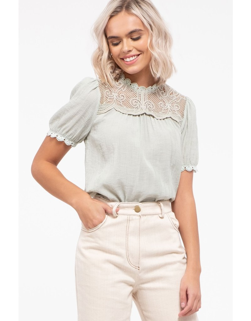 The Abby Puff Sleeve Lace Top