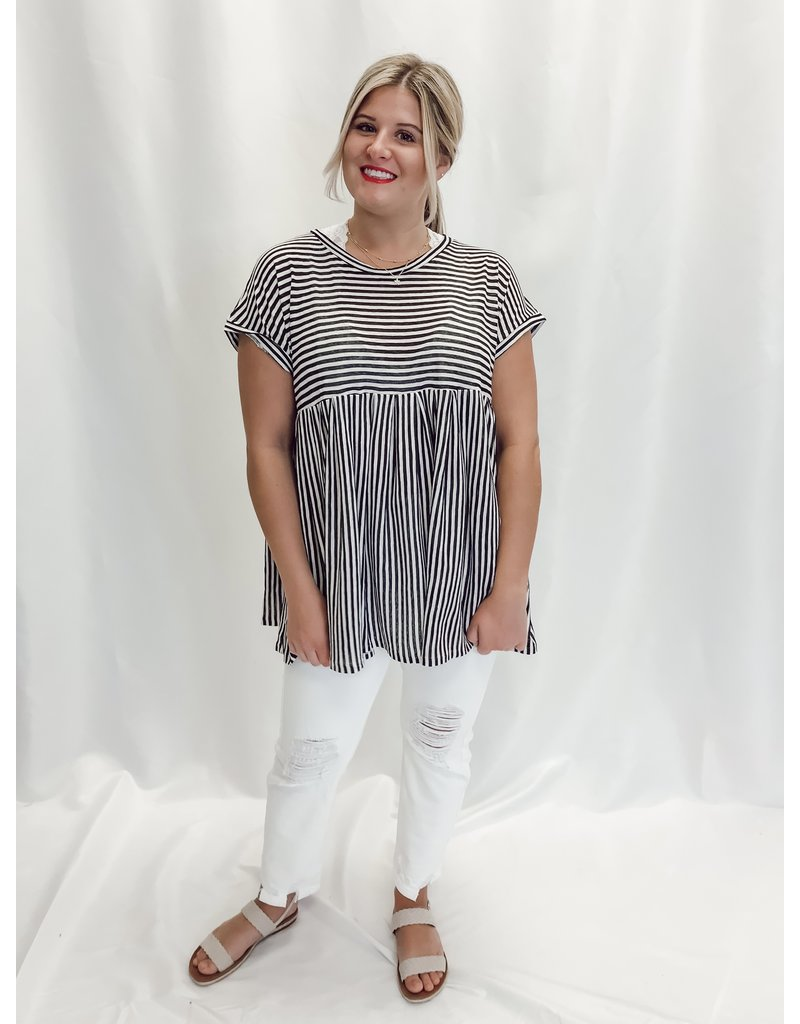 The Tillie Striped Babydoll Top