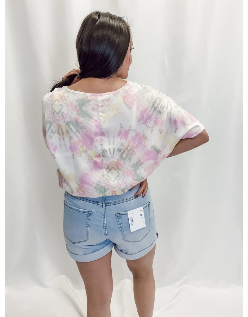 The Cortney High Rise Mom Shorts