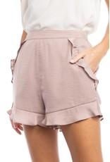 The Ruffle Around Town Satin Shorts