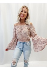 The Kinsley Off The Shoulder Floral Crop Top