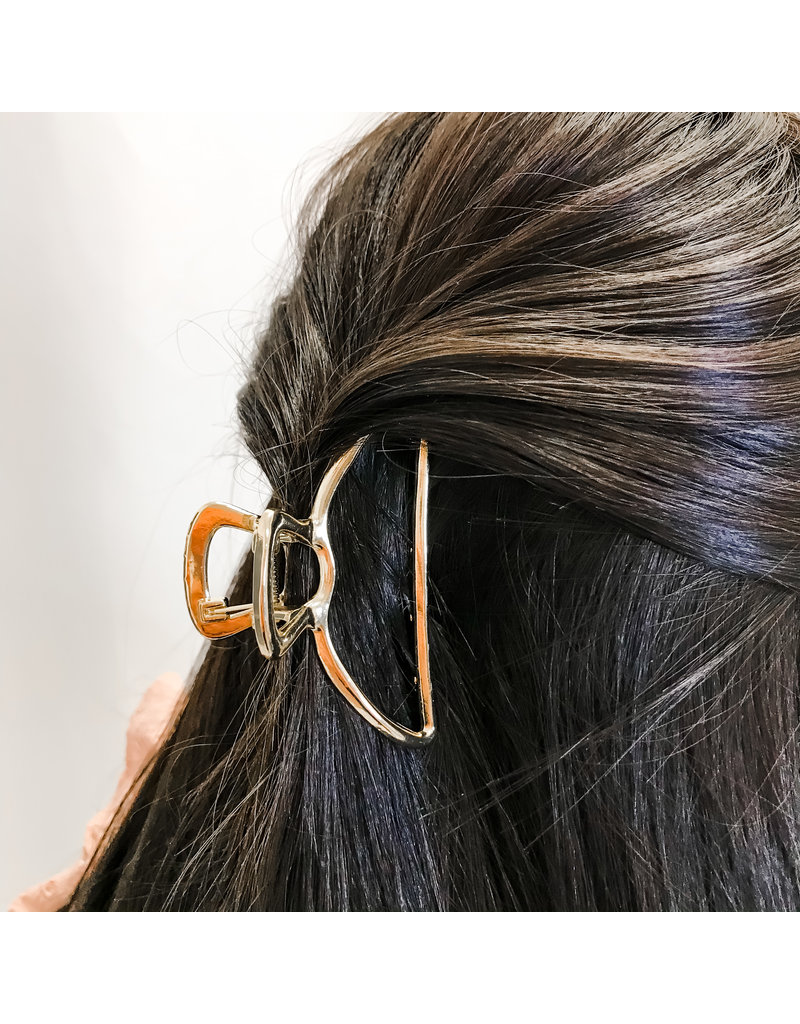 Open Shape Claw Clip - Gold