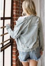 The Anne Distressed Denim Jacket