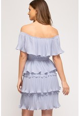 The Heather Off The Shoulder Tiered Dress