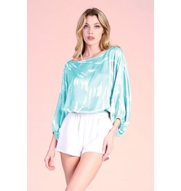 The Lynsey Printed Satin Blouse