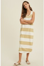 The Highlight Of My Day Striped Midi Dress