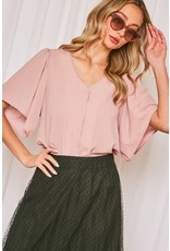 The Emily Scalloped Button Up Blouse