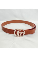 The Crocodile Embossed Belt - Brown