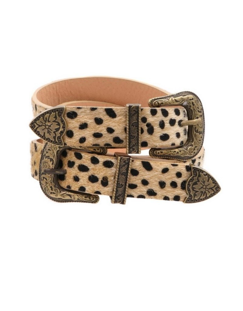 Spotted Two Buckle Belt