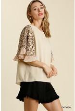 The Macie Floral + Leopard Print Top