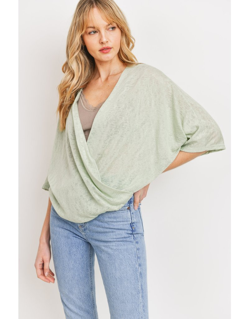 The Out And About Wrap Top