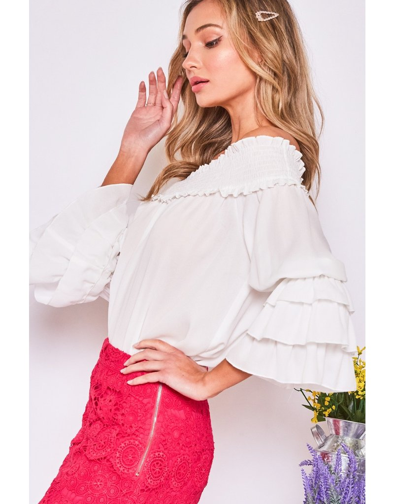 The Sabrina Off The Shoulder Top