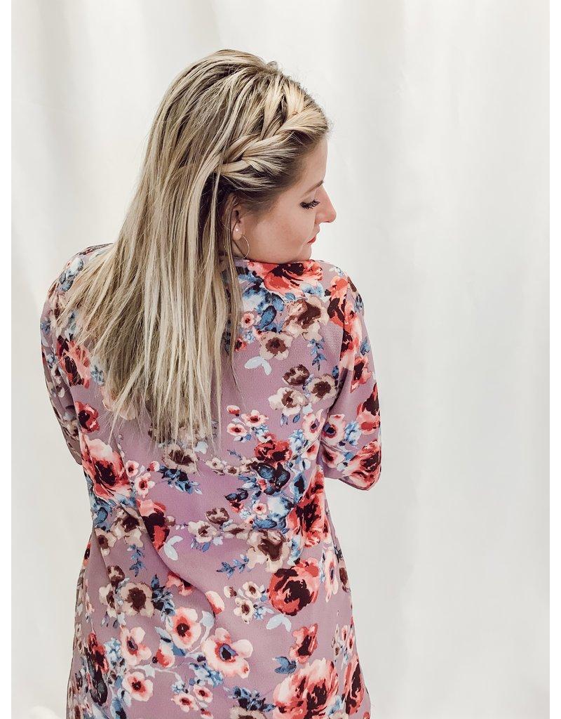 The Bianca Floral Print Kimono