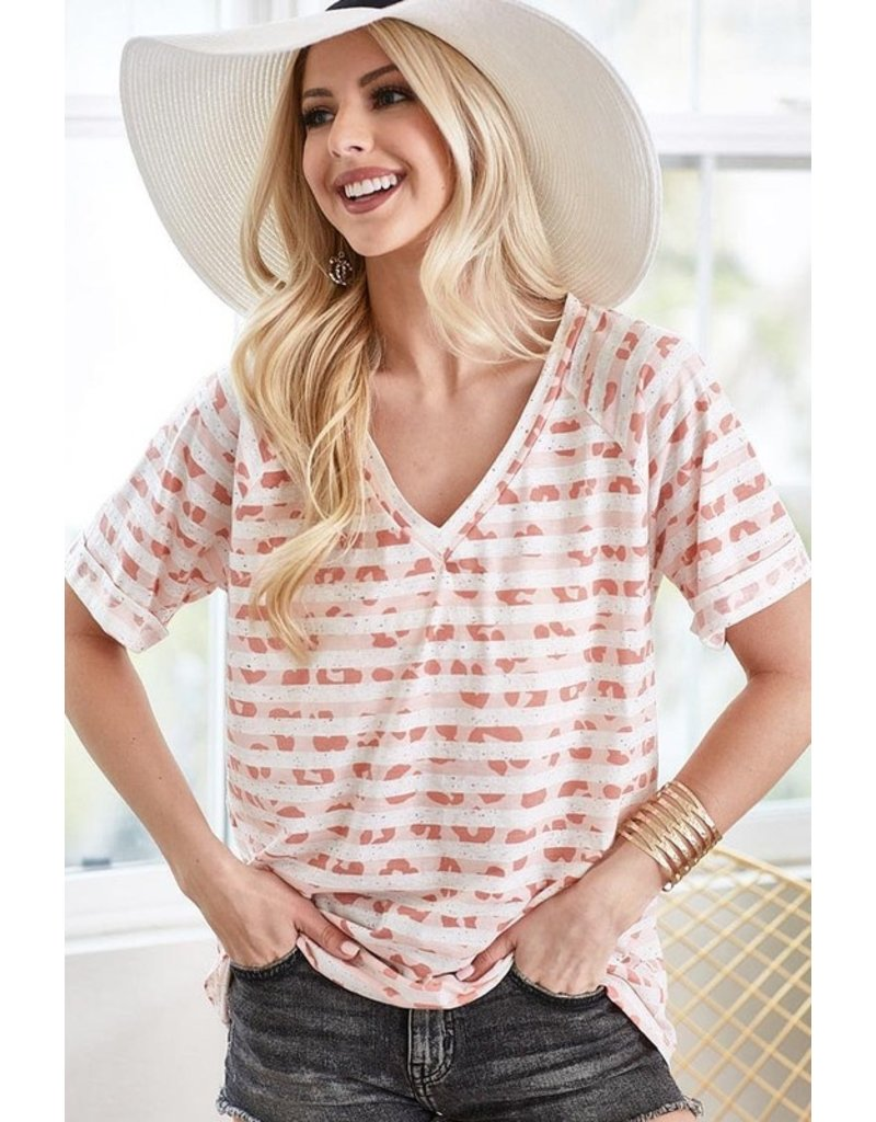 The Sweet Thing Leopard + Striped Tee