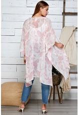 The Take Me To Paradise Floral Chiffon Kimono