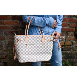The Brooklyn Check Tote Shoulder Bag