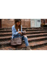 The Brooklyn Shoulder Tote Bag - Brown Check