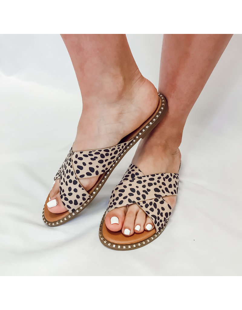 The Micah Spotted Criss Cross Sandal