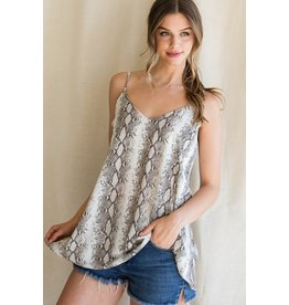 The Step It Up Snake Print Top