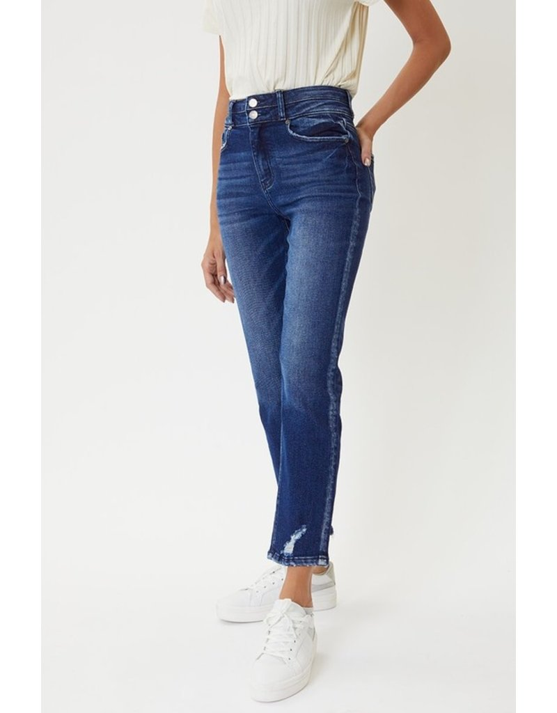 The Daphne Two Button Straight Leg Jeans