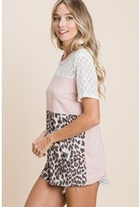 The Craft Leopard + Lace Tee