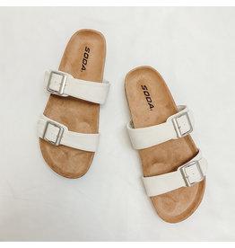 The Dunya Birk Sandal - Cream