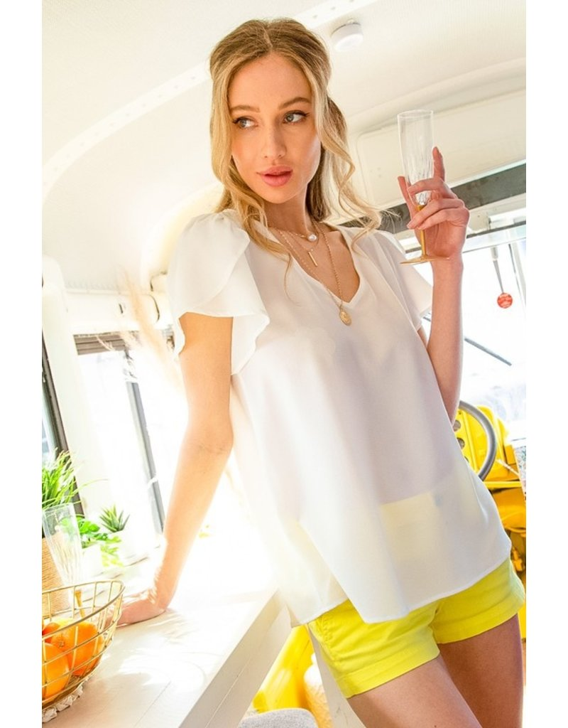 The Shannon Tulip Sleeve Top
