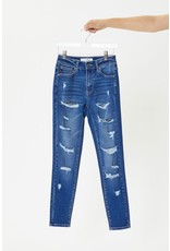 The Betsy Distressed High Rise Skinny - Curvy Style