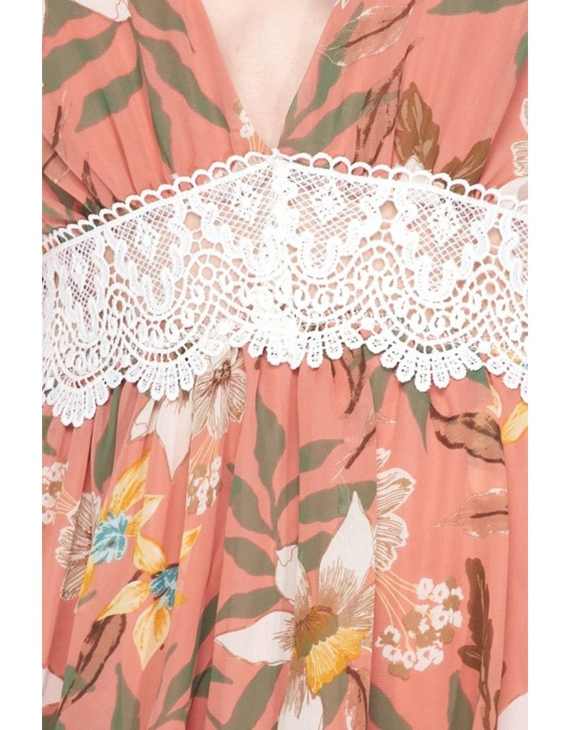 The Landed In Paradise Floral Maxi Dress