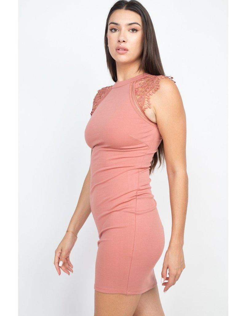 The Victoria Lace Trim Dress